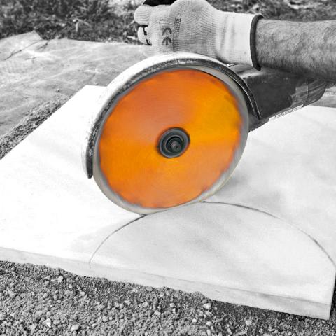 Radius Blade Curve Cutting Concrete Slab