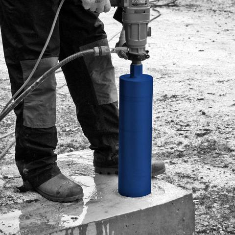 Wet Core Drilling into Concrete