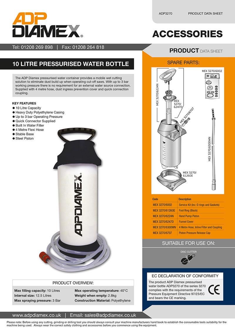 ADP Water Bottle Data Sheet