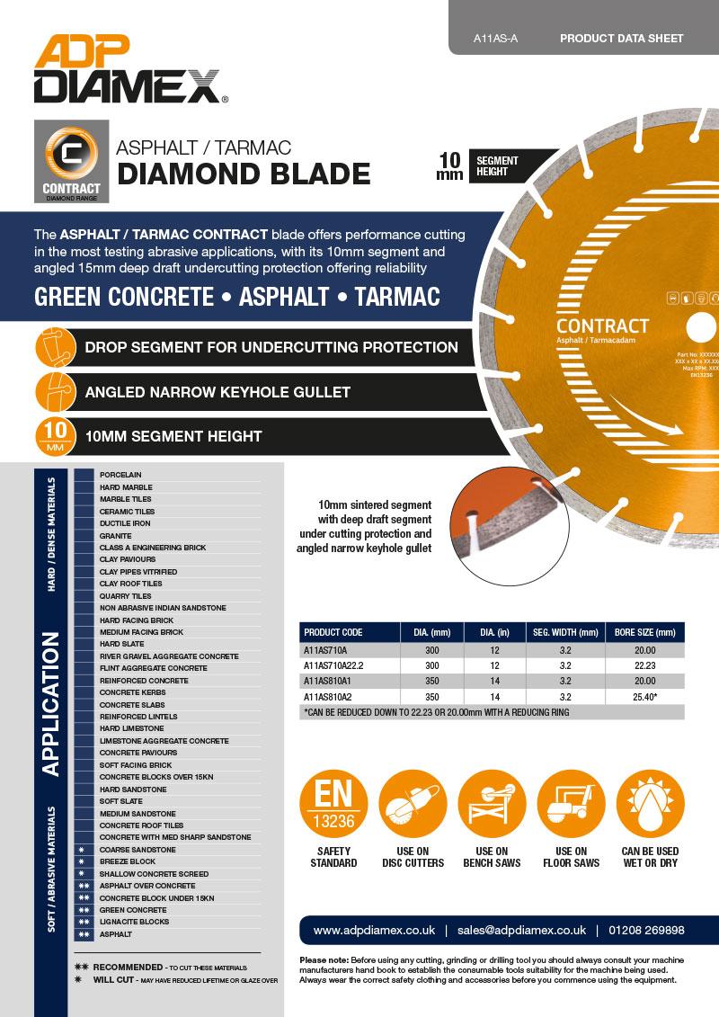 Asphalt / Tarmac Contract Data Sheet
