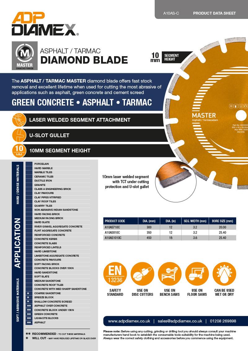 Asphalt / Tarmac Master Data Sheet