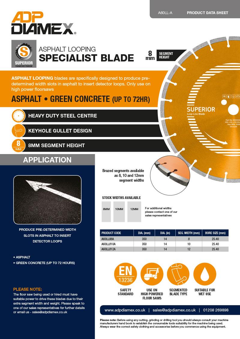 Looping Blade Asphalt Data Sheet
