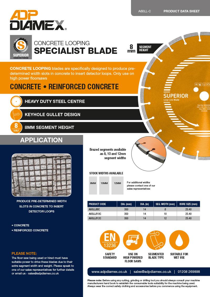 Looping Blade Concrete Data Sheet