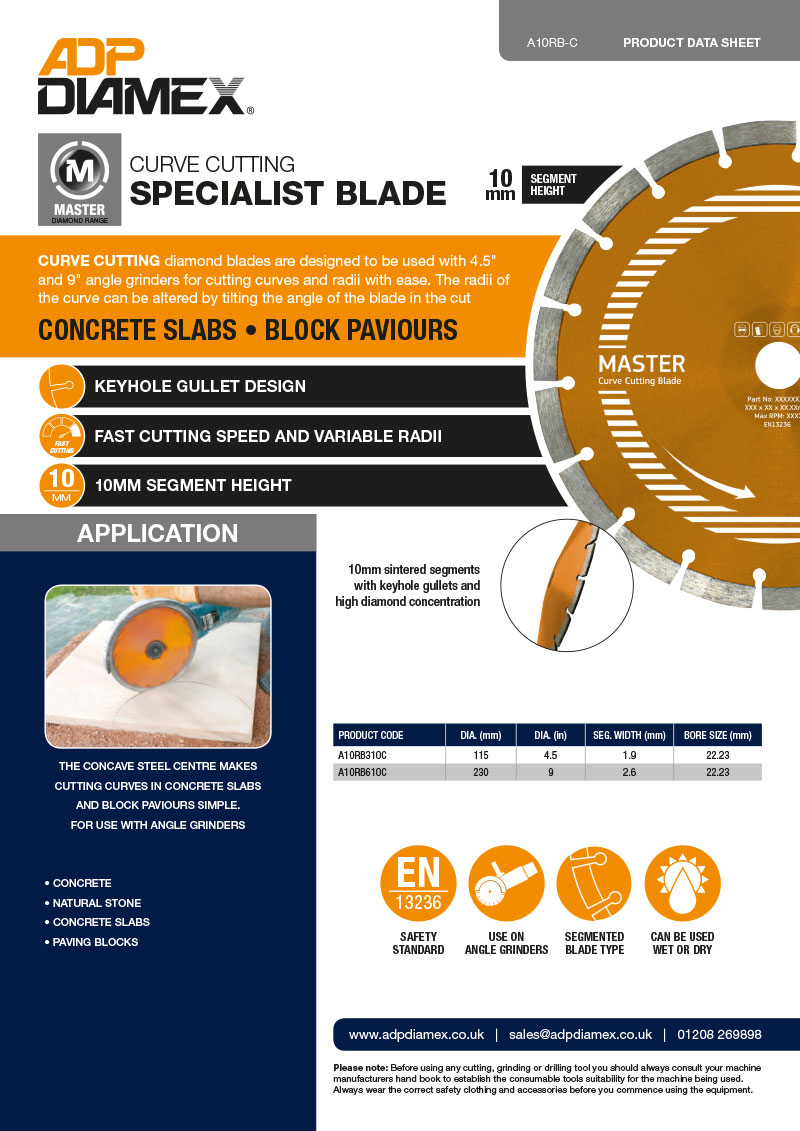 Radius Blade Data Sheet