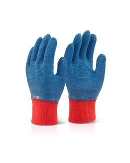 Latex Work Gloves Blue