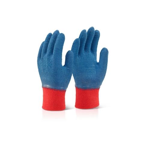 Latex Work Gloves Blue