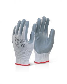 Nitrile Foam Nylon Work Gloves Grey