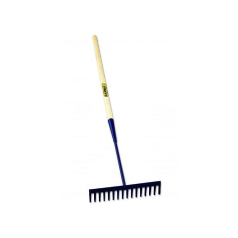 16 Teeth Square Asphalt Rake Wooden Shaft