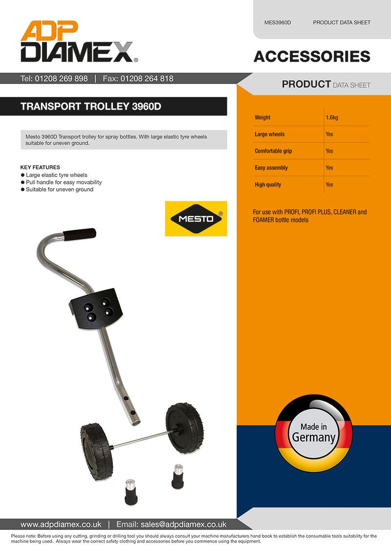 Transport Trolley 3960D Data Sheet