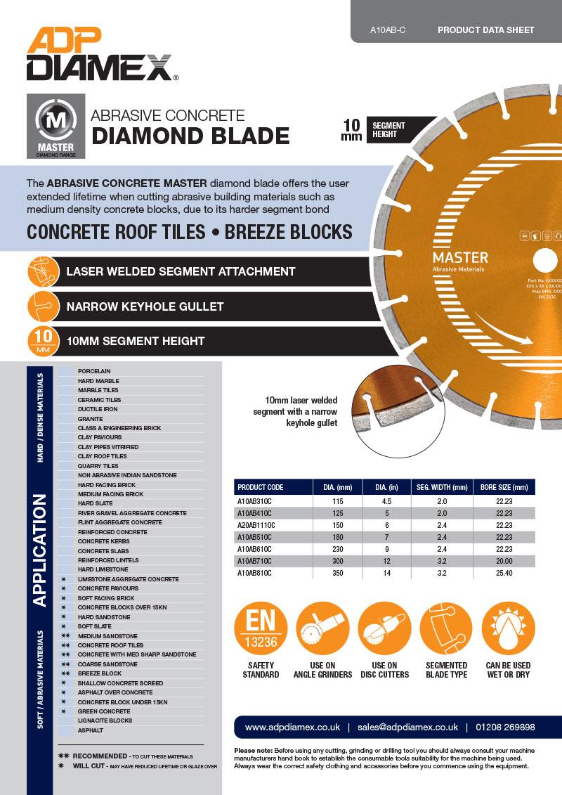 Abrasive Concrete Master Data Sheet