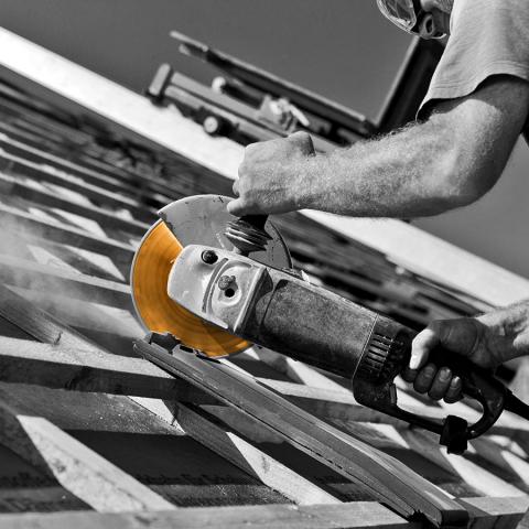 Diamond Blade cutting Concrete Roof Tile