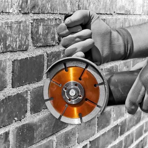 Diamond Mortar Raker Brick Wall