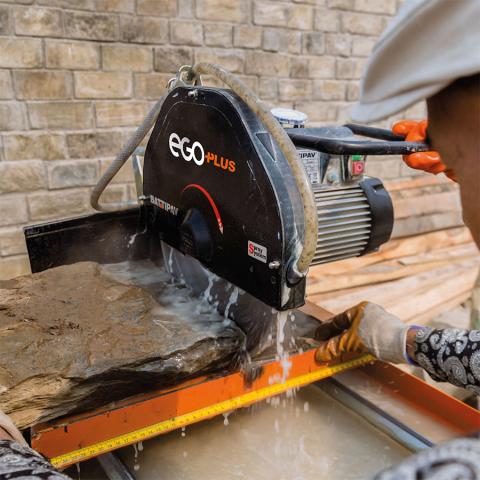 Battipav EGO PLUS Masonry Bench Saw Cutting Stone